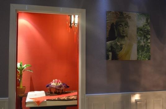 Massageraum 'Peking' Mandarin Spa Nimwegen, Niederlande.