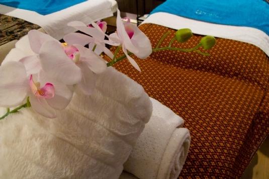 Behandlungsraum 'Samut Prakan' Mandarin Spa Nimwegen, Niederlande.