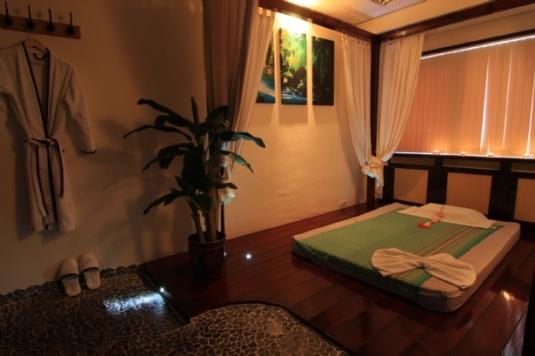 Massageraum 'Cambodia' Mandarin Spa Uden, Niederlande.